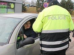 Na frekventované výpadovce na Brno byla vozidla vybírána náhodě.
