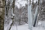 Ledopád u Lovětína na Jihlavsku.