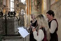 V sobotu se lidé mohli podívat do kaple Všech svatých na telčském zámku (na snímku).