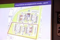 Plánek zamýšleného jihlavského Vědeckotechnologického parku v Hruškových Dvorech