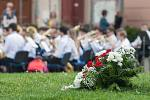 Dechový orchestr TUTTI ZUŠ Jihlava v parku Gustava Mahlera.