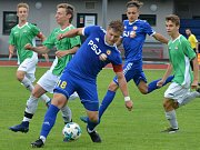 Mladý Mirek Malata (u míče) bojuje o místo v sestavě jihlavské 19. Ta začne proti Mladé Boleslavi.