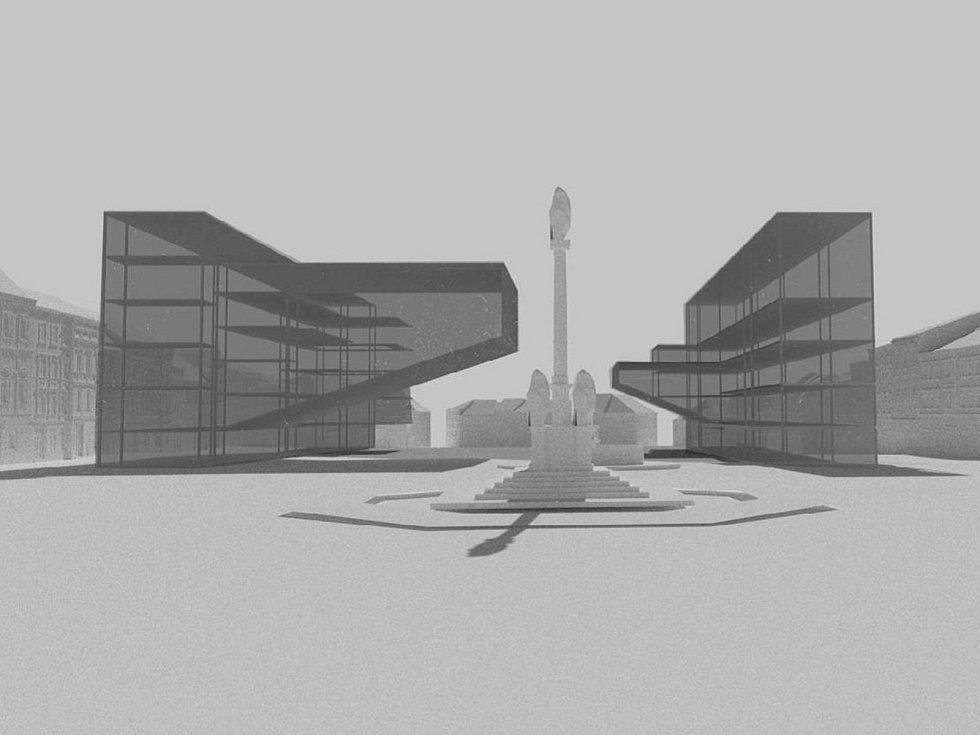 Návrh na budoucnost Masarykova náměstí od studenta Michaela Čambora.