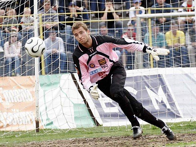 Petr Tulis se po zranění Branislava Rzeszota stal novou jedničkou Jihlavy.