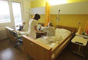 Vánoční pokoj na geriatrii