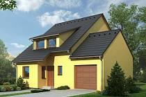 Domy na Hosově, kde vzniká Zelená ulice, budou kombinací ekologie s tradicí. Vizualizace.
