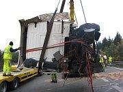 Nehoda kamionu na 112. kilometru dálnice D1.