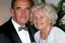 Věra a Bohumír Kunčovi oslavili diamantovou svatbu - 60 let společného soužití.