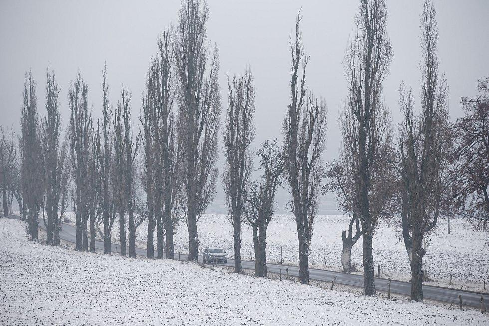 Sníh na Vysočině.