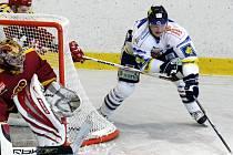 Z utkání Bílí tygři Liberec - HC Dukla Jihlava.