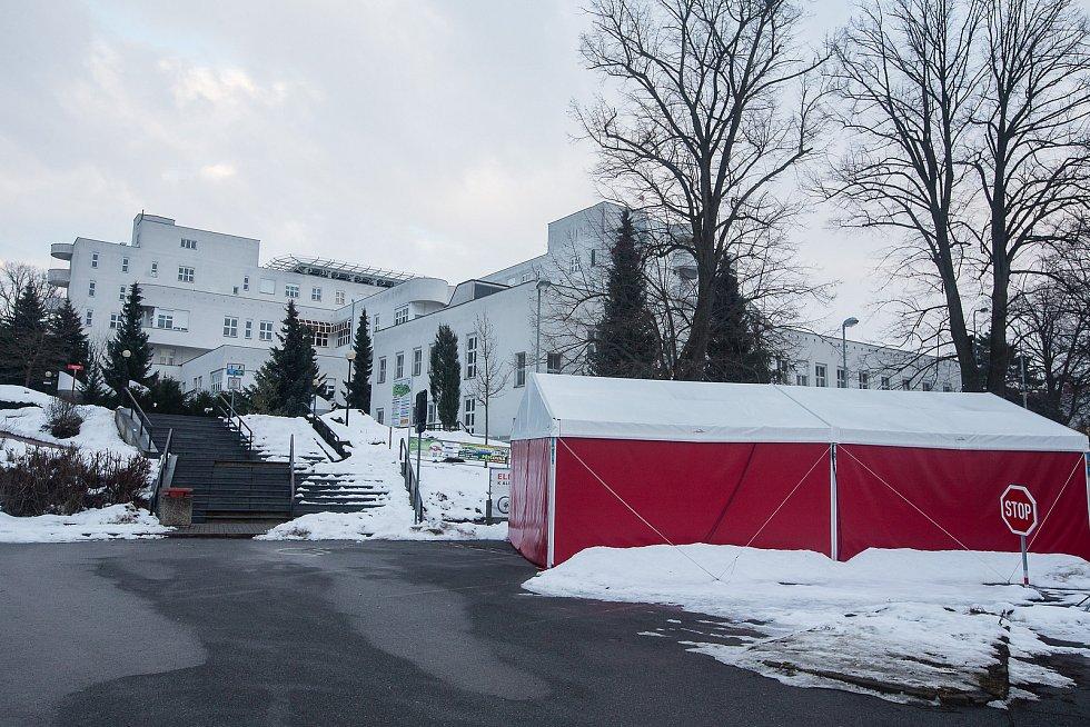 Budoucí očkovací centrum v Nemocnici Havlíčkův Brod.