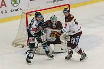 Zápas 34. kola hokejové extraligy mezi HC Dukla Jihlava a HC Vítkovice Ridera, 28. prosince 2017 v Jihlavě.