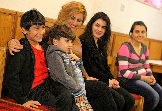 Iráčtí uprchlíci ve středisku Okrouhlík.