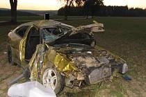 K dopravní nehodě s těžkými následky došlo večer mezi Dobronínem a Štokami.