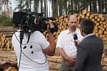 Téma kůrovcové kalamity na Vysočině zaujalo i Českou televizi.
