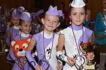 Dětské mažoretky ze Šlapanova si z Brtnice odvezly první místo. Porotě se líbily nejvíc.