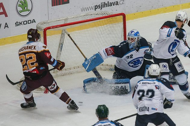 Utkání 48.kola hokejové extraligy: HC Dukla Jihlava - HC Škoda Plzeň, 6.února 2018vJihlavě.