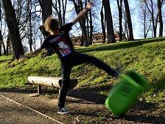 V jemnickém parku byl tento měsíc zprovozněn simulátor vandalismu.