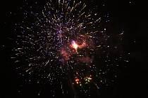 Nový rok zahájili v krajském městě ohňostrojem, ilustrační foto