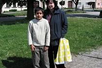 Marie Doleželová se synem Šimonem.
