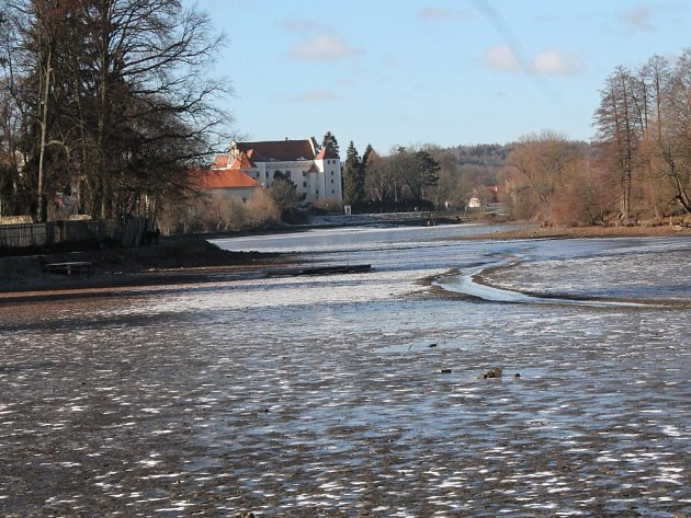 Štěpnický rybník v Telči.