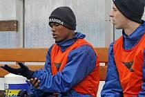 Zatímco brazilský obránce Gabriel (vlevo) nebude při sobotním zápase chybět, Josefa Hušbauera (vpravo) trápí angína a duel s Brnem B vynechá.