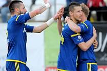 Úleva.  Fotbalisté Vysočiny Jihlava si mohou po vítězství nad Baníkem oddychnout. I v příští sezoně budou hrát nejvyšší fotbalovou ligu.