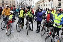 Cyklisté odstartovali letošní sezonu z centra Jihlavy.