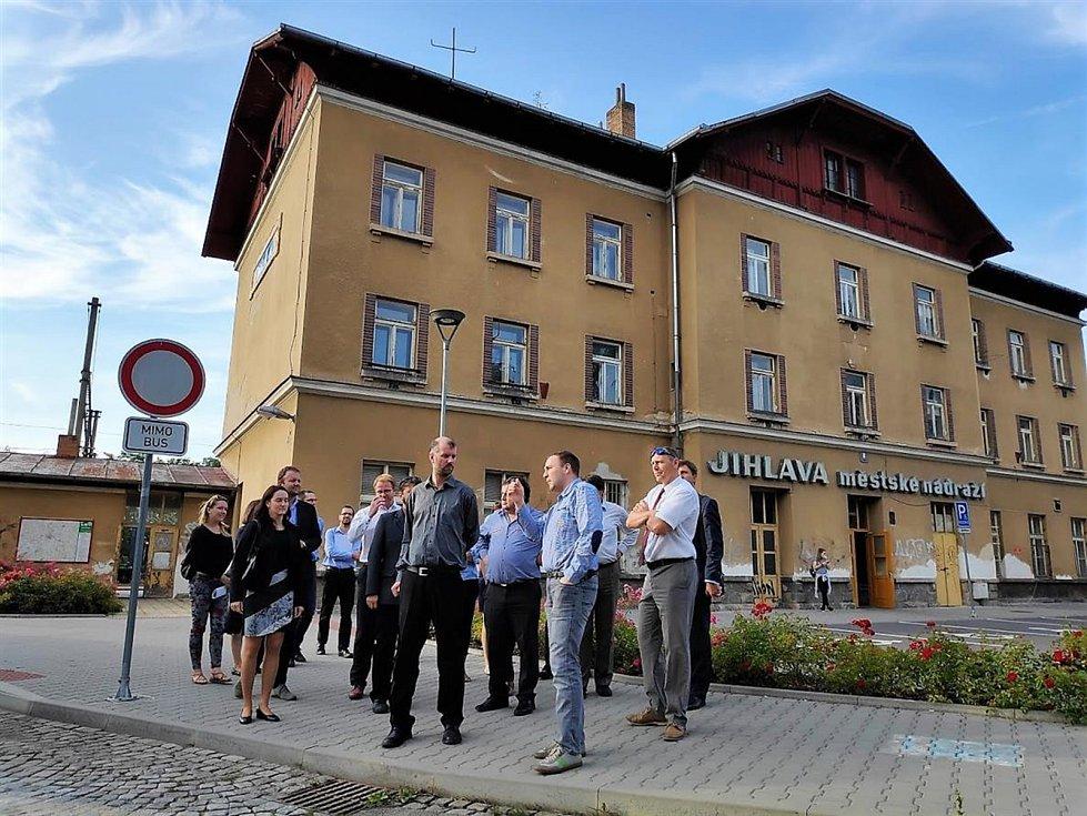 Komise Ministerstva dopravy před schválením plánu navštívila Jihlavu osobně. Foto: Magistrát města Jihlavy