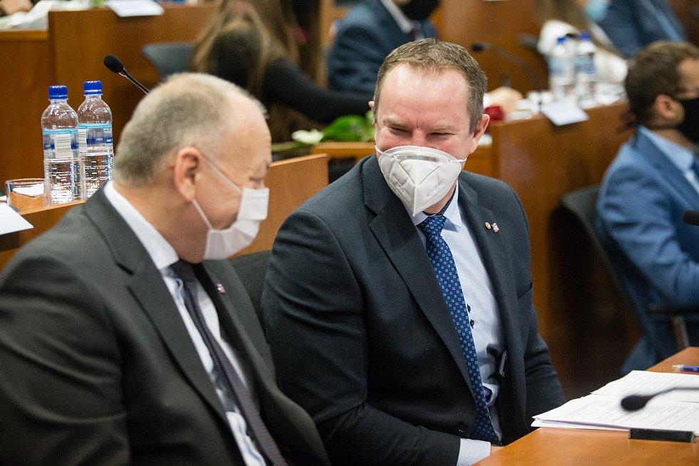 Martin Kukla na ustavujícím zasedání zastupitelstva Kraje Vysočina.