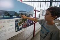 Výstava soutěžních projektů na výstavbu nového zimního stadionu v Jihlavě.