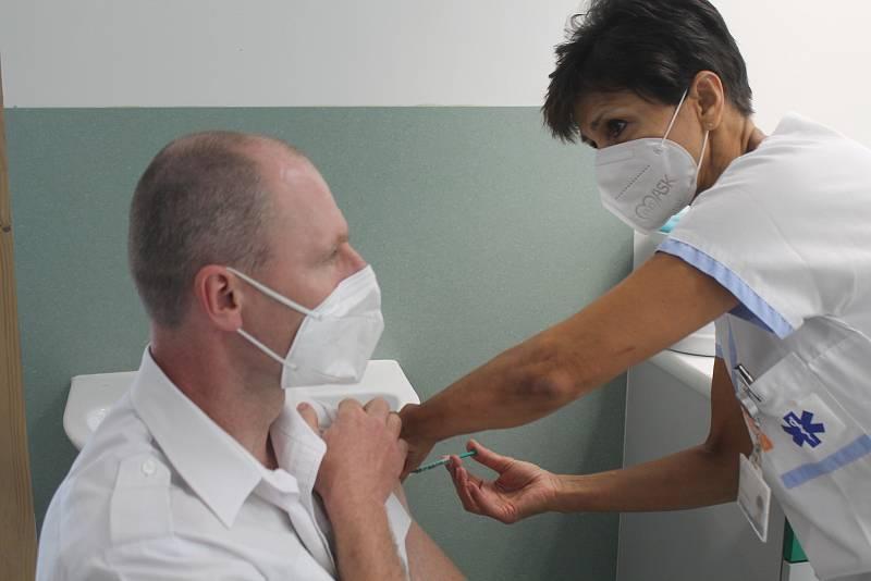 Zájem o očkování proti koronaviru byl v Jihlavě v červenci značný. Ilustrační foto.