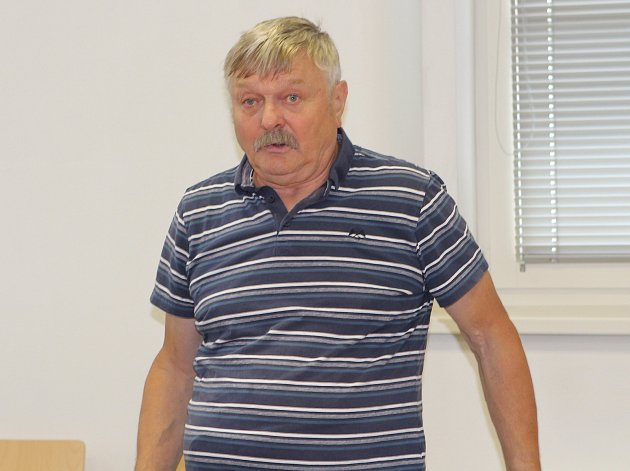Petr Vaněk před Okresním soudem v Jihlavě.