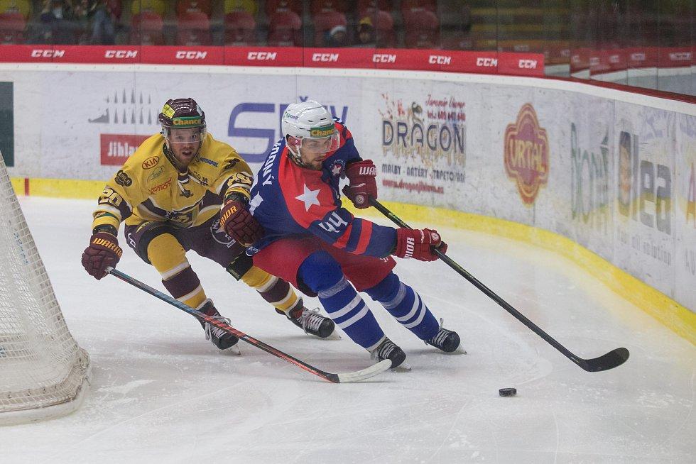 Lukáš Anděl (ve žlutém) v novém ročníku Chance ligy jihlavský dres oblékat nebude.