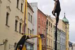 Takto to vypadlo v Komenského ulici v roce 2016 při akci Zažít Jihlavu jinak.