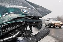 Dopraví nehoda os. vozu na výpadovce z Jihlavy na Havlíčkův Brod.