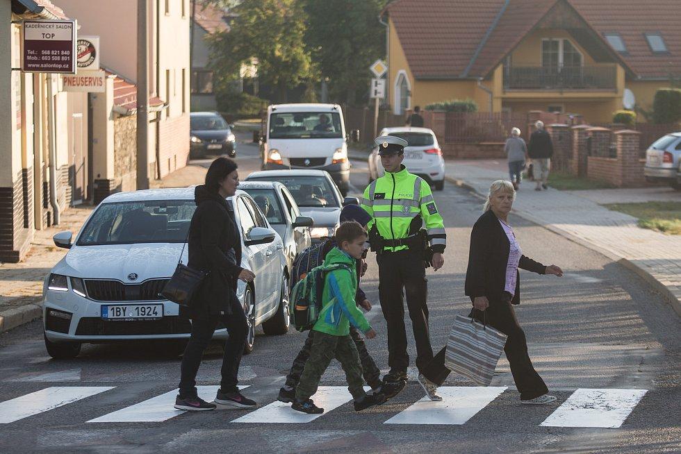 Policisté z Vysočiny hlídají přechody.