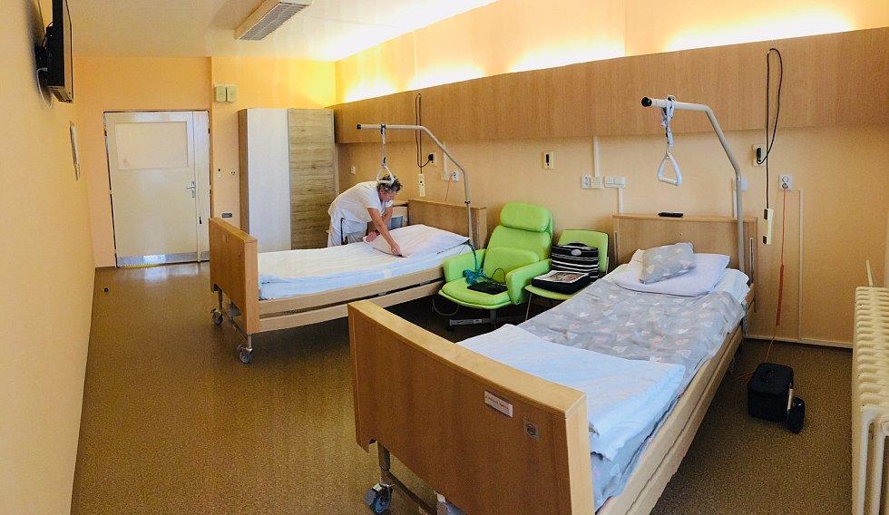 Nově opravené pokoje v Nemocnici Jihlava.