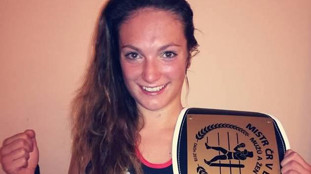 Vendula Sedláčková vyhrála šestého října Mistrovství České republiky v boxu.