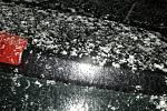 Sníh v Jihlavě při silnější sněhové přeháňce kolem 17.hodiny.