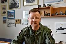 Velitel 22. základny vrtulníkového letectva Rudolf Straka. Ve funkci je od roku 2019