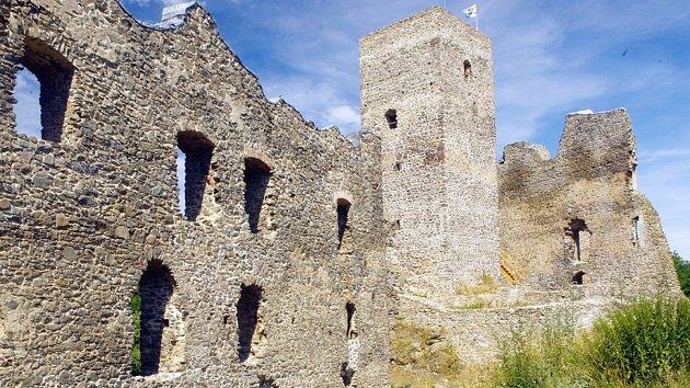 Zřícenina hradu Rokštejna.