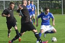 Důležité derby. Po výhře 7:1 zůstaly body v Třešti, která se tímto zápasem přiblížila záchraně.