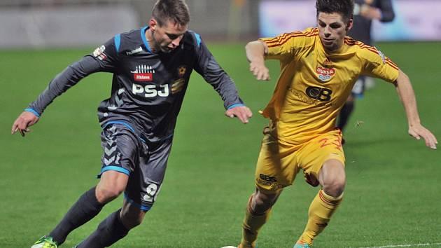 Fotbalisté Jihlavy v pátek hráli s Duklou Praha nerozhodně.
