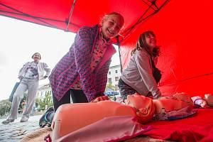 Evropský týden mobility na Masarykově náměstí v Jihlavě.