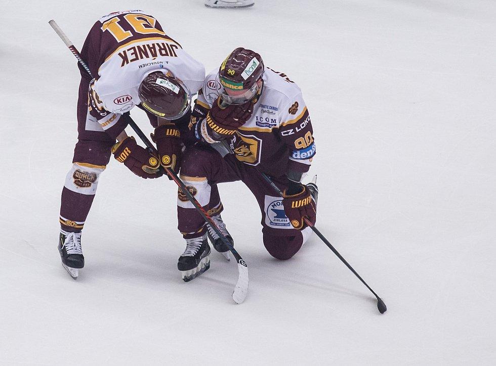Pátý zápas semifinále play off první hokejové ligy mezi týmy HC Dukla Jihlava a Rytíři Kladno.