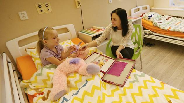 Nový pokoj na dětském oddělení jihlavské nemocnice.