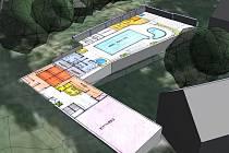 Nejen koupaliště, ale i solárium, saunu, masáže a spining najdou v budoucnu návštěvníci v Třešti.