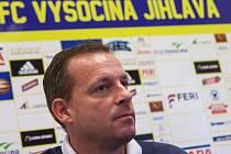 Hlavní trenér FC Vysočina Martin Svědík.