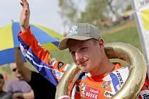 Českobudějovický motokrosař Martin Michek dokonale využil dvou zaváhání Francouze Florenta Richiera a získal plný počet padesáti bodů.